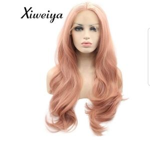 Nwt 24in Rose Gold synthetic fiber wig